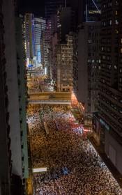 (تصاویر)  تظاهرات در هنگ کنگ علیه اقدام دولت چین برای تغیر بخشی از قانون قضایی این منطقه