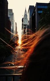 (تصاویر)  غروب در خیابان 42 مانهاتن نیویورک
