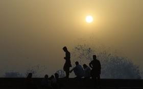 (تصاویر) ساحل کراچی در پاکستان در هنگام غروب آفتاب