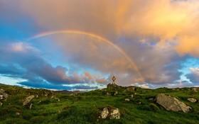 (تصاویر) رنگین کمان در منطقه دونگال در ایرلند
