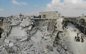 (تصاویر) نمایی از یکی از مناطق شهری در ادلیب سوریه