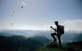 (تصاویر) پاراگلایدر سواران در منطقه کوهستانی در استرالیا