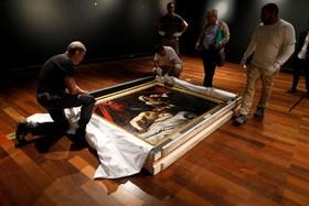 (تصاویر) نقاشی که گمان می رود کاراواگیو نقاش کرده باشد و سربریدن جودیت نامیده می شود در حراجی در فرانسه آماده می شود