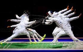 (تصاویر) تصویری دیدنی از مسابقات شمشیربازی در دوسلدورف آلمان