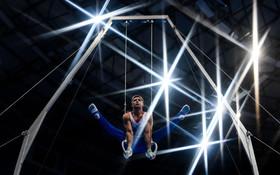 (تصاویر) صحنه ای از رقابت های ژیمناستیک بازی های ملت های اروپا در بلاروس