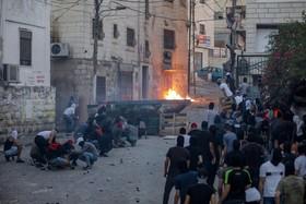 (تصاویر) تظاهرات فلسطینی ها در شرق اورشلیم