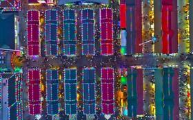 (تصاویر) بازار شبانه در شانگ یانگ در چین که گفته می شود بزرگترین بازار شبانه در آسیاست