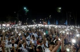 (تصاویر)تظاهرات حامیان حزب مخالف در تیرانای آلبانی
