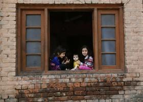 (تصاویر) کودکان کشمیری در سرینگر
