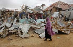 (تصاویر) محل انفجار بمب انتحاری در موگادیشو سومالی
