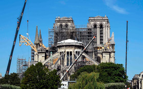 (تصاویر) بازسازی کلیسای نوتردام در پاریس پس از آتش سوزی اخیر