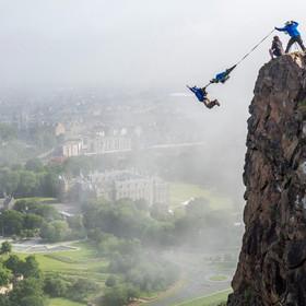(تصاویر) پرش از ارتفاع در ادینبورگ انگلیس