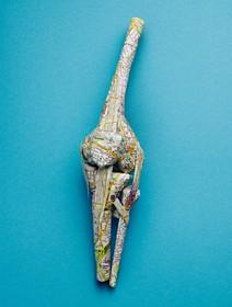(تصاویر) ماکت زانو که با نقشه زوریخ ساخته شده است
