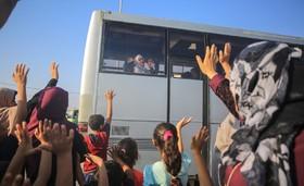 (تصاویر) حرکت کاروان های حجاج از غزه به مکه برای مراسم امسال