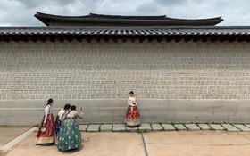 (تصاویر) جهانگردان در کره جنوبی از عصری با لباس های سنتی عکس یادگاری می گیرند