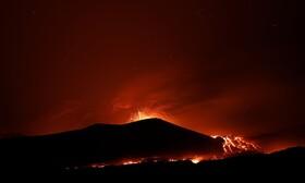 (تصاویر) آتش فشانی کوه اتنا در سیسیل ایتالیا