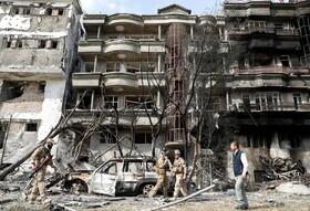 (تصاویر) آثار ناشی از یک انفجار انتحاری در کابل افغانستان