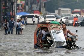 (تصاویر) بارندگی در مانیل فلیپین