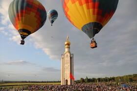 (تصاویر) فستیوال بالن های هوای گرم در بلگورود در روسیه