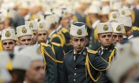 (تصاویر) مراسم نظامی در بیروت لبنان