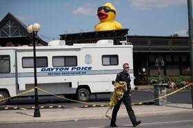 (تصاویر) محل تیراندازی در دیتون اوهایو در آمریکا پلیس در حال بررسی  است