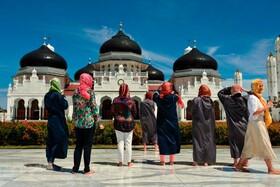 (تصاویر) مسجد بیت الرحمان در آچه اندونزی
