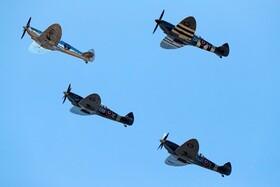 (تصاویر)هواپیماهای اسپیدفایر جنگ جهانی دوم  در حال پرواز نمایشی