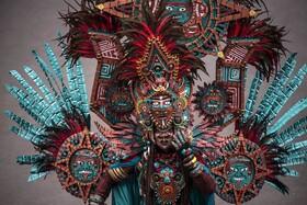(تصاویر) یک شرکت کننده در جشنواره جمبر در شرق جاوه در اندونزی