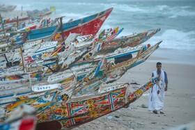 (تصاویر) قایقهای ماهیگیری درساحل موریتانی