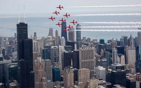 (تصاویر) نمایش هوایی در شکاگو آمریکا