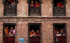 (تصاویر) تماشای فستیوال مذهبی از باکن خانه در نپال