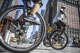 (تصاویر) فستیوال دوچرخه سواری تک چرخ در نیویورک آمریکا