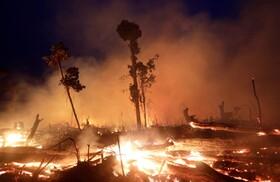 (تصاویر)آتش سوزی جنگل های آمازون در راندونیا در برزیل