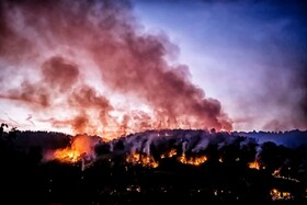 (تصاویر) آتش سوزی در دیژون در فرانسه