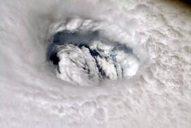(تصاویر) تصویری از گردباد دوریان در اقیانوس آتلانتیک