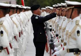 (تصاویر) گارد احترام نیروهای دفاعی ژاپن در توکیو برای استقبال از وزیردفاع هند