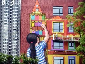(تصاویر) نقاشی دیواری بر روی بیمارستان کودکان و زنان در نانجینگ در چین