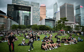 (تصاویر) تظاهرات در مرکز هنگ کنگ