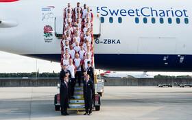 (تصاویر) تیم ملی راگبی انگلیس در حال حرکت به سوی بازی های جهانی در توکیو ژاپن