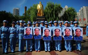 (تصاویر) مراسم یادبود چهل و سومین سال تولد مائو در هاربین چین