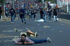 (تصاویر) تظاهرات دانشجویان در اندونزی