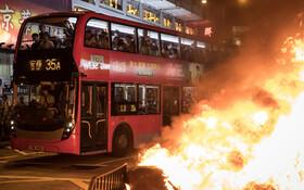 (تصاویر) ادامه تظاهرات در هنگ کنگ علیه چین