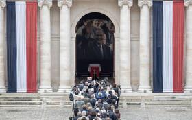 (تصاویر) تشییع جنازه ژاک شیراک در فرانسه