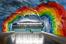 (تصاویر)باز سازی و تزئین یک ایستگاه مترو در استکهلم سوئد
