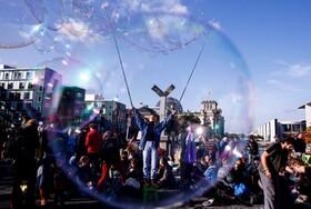 (تصاویر) تظاهرات حامیان محیط زیست در برلین آلمان