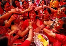 (تصاویر) جشنواره مذهبی دورگا پوجا در چندیگر هند