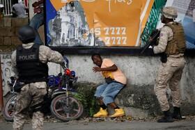 (تصاویر) برخورد نیروهای ضد شورش در پورت دو پرنس در هاییتی با تظاهرکنندگان
