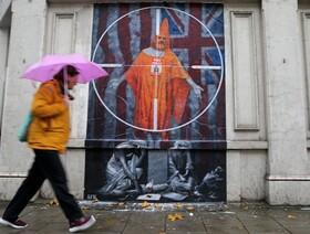 (تصاویر) نقاشی دیواری در لندن در حمایت از بنیانگذار ویکی لیکس  جولین آسانژ