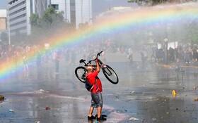 (تصاویر) سانتیاگو شیلی و تظاهرات علیه دولت.