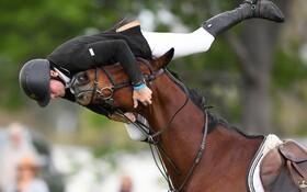(تصاویر) سقوط اسب سوار ماریس بستون در بازی های جهانی زلاندنو